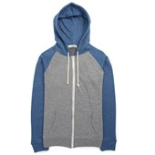 Threads for Thought Raglan Contrast Sleeve Zip Hoodie