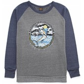 Dark Seas Long Bill Crew Fleece