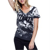 Glamour Kills Catitude Scoop Neck T-Shirt - Women's