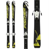 Fischer RC4 Race Skis + FJ7 AC Jr Rail Bindings - Boy's 2015