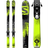 Salomon Q-Max Jr Skis + EZY7 Bindings - Boy's 2015