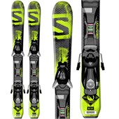Salomon Q-Max Jr Skis + EZY5 Bindings - Boy's 2015