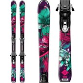Salomon Q-Lux Jr Skis + EZY7 Bindings - Girl's 2015