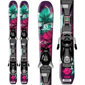 Salomon Q-Lux Jr Skis + EZY5 Bindings - Big Girls' 2016