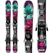 Salomon Q-Lux Jr Skis + EZY5 Bindings - Girl's 2015