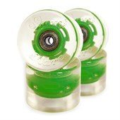 Sunset Light Up Cruiser Skateboard Wheels With Bearings