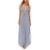 L Space Skyfall Stripe Cover Up Dress - Women's