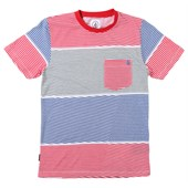 Volcom 3 Course Stripe Crew T-Shirt (Ages 8-14) - Boy's