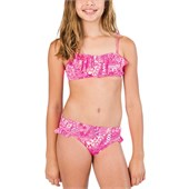 Billabong Carnival Bandeau Swim Set (Ages 8-14) - Girl's
