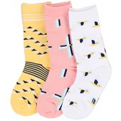 Richer Poorer Yellow 3 Pack Socks - Girl's