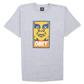 Obey Clothing Orange Icon Face T-Shirt