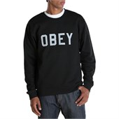 Obey Clothing Collegiate Reflective Crew Neck Sweatshirt