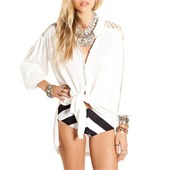 Amuse Society Brennan Long-Sleeve Button-Down Shirt - Women's