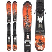 Dynastar Team Legend Skis + Team 4 Demo Bindings - Used - Kid's 2010