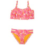 Roxy Palm Palm Flutter Bikini Swim Set (Ages 2-7) - Little Girls'