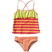 Patagonia Wavy Day Tankini (Ages 8-14) - Big Girls'