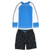 Cabana Life Hammer Head Swim Shorts + Rashguard Set (Ages 4-7) - Little Boys'