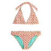 Roxy Catching Waves Halter Bikini Top and Bottom Set (Ages 8-16) - Big Girls'