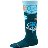 Smartwool Wintersport Stripe Flower Patch Socks - Big Kids'