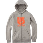 Burton Logo Vertical Full Zip Hoodie - Big Boys'