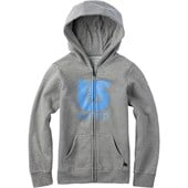 Burton Logo Vertical Full Zip Hoodie - Big Girls'