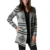 Toad & Co Merino Diamond Hooded Wrap Sweater - Women's