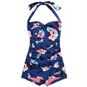 Seafolly Vintage Vacation Boyleg Maillot One Piece - Women's
