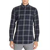 Zanerobe Wire Plaid Long-Sleeve Button-Down Shirt