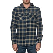 Globe Alford Long-Sleeve Button-Down Hooded Shirt