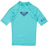 Roxy Whole Hearted Short-Sleeve Rashguard - Big Girls'