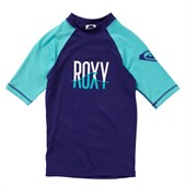 Roxy Wave Short-Sleeve Rashguard - Big Girls'