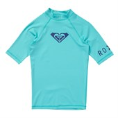 Roxy Whole Hearted Short-Sleeve Rashguard - Little Girls'