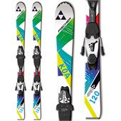 Fischer Koa Jr Rail + FJ4 AC Jr Rail Bindings - Boys' 2016