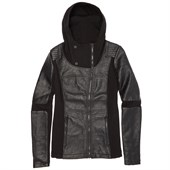 Blanc Noir Asymmetric Hooded Moto Jacket - Women's