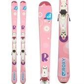 Roxy Sparkle Skis + Look 4.5 Demo Bindings - Used - Big Girls' 2011