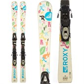 Roxy Pixie Stix Skis + Tyrolia SP75 Demo Bindings - Used - Girls' 2011