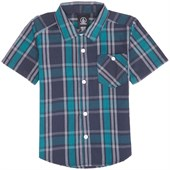 Volcom Everett Plaid Short-Sleeve Button-Down Shirt (Ages 2-7) - Little Boys'
