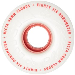Ricta Clouds Red 86A Skateboard Wheels