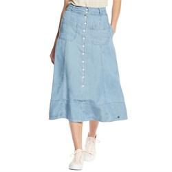 Nümph Button Up Midi Denim Skirt - Women's