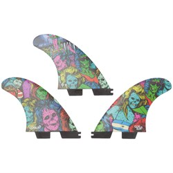 Gorilla Grip x FCS II Zombies PC Medium Tri Fin Set