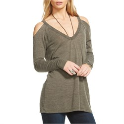 Chaser Triblend Cold Shoulder Tee - Women's