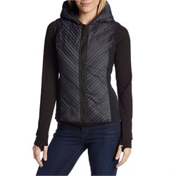 Blanc Noir Chevron Mesh Reflective Hooded Vest - Women's