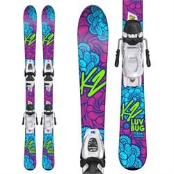 K2 Luv Bug Skis + Marker FDT 4.5 Bindings - Little Girls'