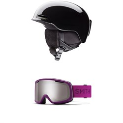 Smith Allure Helmet - Women's + Smith Riot Goggles - Women's