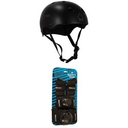 Pro-Tec Classic Skateboard Helmet ​+ Bullet Skateboard Jr Pad Set - Big Kids'