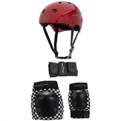 Pro-Tec Classic Skateboard Helmet ​+ Pro-Tec Street Gear Junior Skateboard Pads 3-Pack - Big Kids'