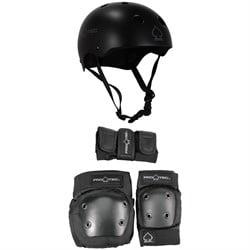 Pro-Tec Classic Skateboard Helmet + Pro-Tec Street Gear Junior Skateboard Pads 3-Pack - Big Kids'