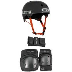 Pro-Tec The Bucky Skateboard Helmet + Street Gear Junior Skateboard Pads 3-Pack - Big Kids'