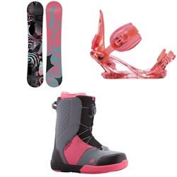 K2 Kandi Snowboard - Girls' + K2 Kat Snowboard Bindings - Girls' + K2 Kat Snowboard Boots - Girls' 2018