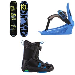 K2 Mini Turbo Snowboard - Boys' ​+ K2 Mini Turbo Snowboard Bindings - Little Boys' ​+ K2 Mini Turbo Snowboard Boots - Little Boys'